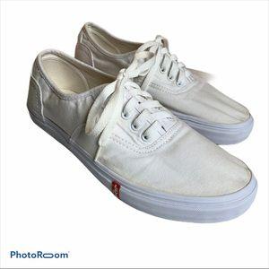 3/$20 Levi's white canvas sneakers men's size 11